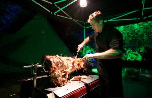 Carving a Hertfordshire Hog Roast