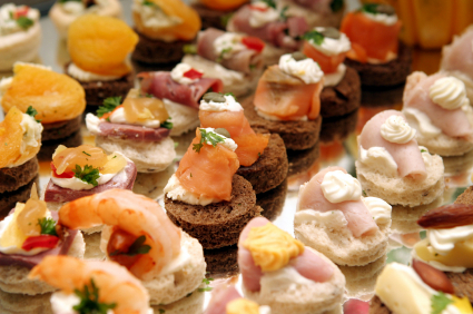 Canapes to accompany beautiful hog roasts